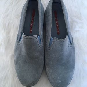 Prada Blue Suede Athletic Shoes / Size 38.5 / 8